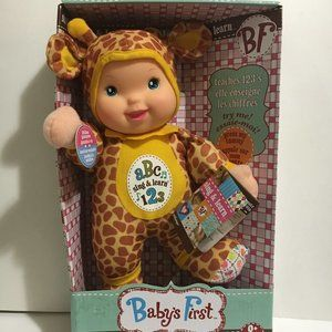 Doll New Baby's First Teaches 1-10 Eng  & French